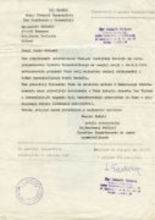 The document from the Yad Vashem Institute for Ludwik Golecki. 16.06.1986.