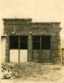 The unfinished house of Feliks Grzesiuk at Lubelska Street 140, the place where Jews were later hidden, Chełm August 23, 1938