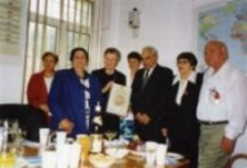 "The ceremony of awarding the medal ""Righteous Among the Nations."" The Ambassador of Israel, Adela Grzesiuk-Dąbska. Warsaw, July 18, 2000"