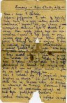 List od Henryki Szweryn do Jana Kotarskiego, ojca Alicji Kowalczyk, 13. sierpnia 1945 roku