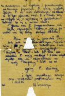 A letter from Henryka Szweryn for Jan Kotarski, 13.08.1945.