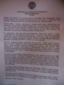 Dokument z Yad Vashem dla Henryka Kozłowskiego. 3.02.2008