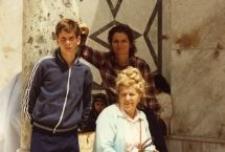 Wanda Michalewska with Shoshana Golan (Róża Bejman) and her son. Israel. April 25, 1985.
