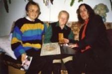 Romana Bajak, Teofila Bajak, Beth-Eden Kite, the representative of the Embassy of Israel, Lublin 2001.
