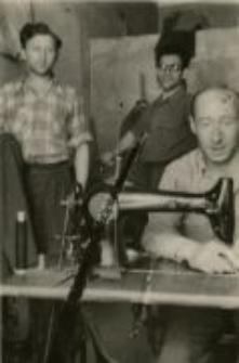 Jan Szmulewicz, Jakub Nagelsztain. The tailor's, Lubartowska Street, Lublin, c. 1946 - 1947.
