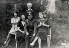 Lidia Damm with the Trzeciak family, after the liberation
