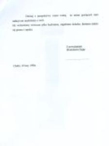 Relacja Bronisławy Zając dla Instytutu Yad Vashem