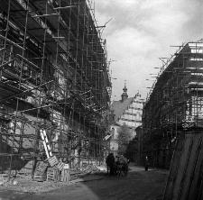 Ulica Złota w Lublinie podczas prac renowacyjnych