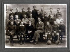 Zdjęcie zbiorowe uczniów Gimnazjum im. S. Staszica w Lublinie