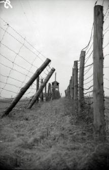 Ogrodzenie pól więźniarskich na terenie byłego obozu koncentracyjengo na Majdanku