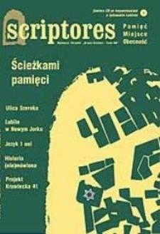 Scriptores : pamięć, miejsce, obecność : nr 28 (2/2003) : Ścieżkami pamięci