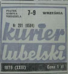 Kurier Lubelski 1979 nr 201 : Masakry w Łukowie, Janowie i w Lublinie