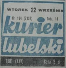 Kurier Lubelski 1981 nr 184 : Tomaszów Lubelski 19-20 września : Pamięci wrześniowych żołnierzy
