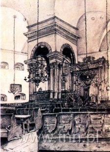 wnętrze Synagogi Maharszala