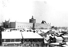 Lublin, widok na Zamek i dzielnicę żydowską z placu św. Michała