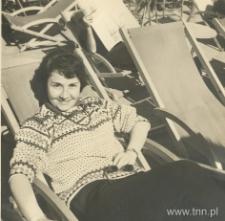 Anna Langfus na wakacjach w górach, lata 50.