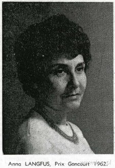 Anna Langfus, laureatka Prix Goncourt, 1962