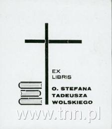 Ekslibris O. Stefana Tadeusza Wolskiego