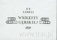 Ekslibris Wioletty Gębskiej