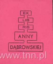 Ekslibris Anny Dąbrowskiej