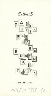 Ex Libris Tadeusza Wacława Budynkiewicza
