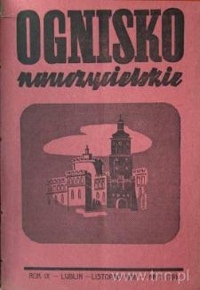 """Okładka czasopisma """"Ognisko Nauczycielskie"""" nr 3/1936"""