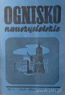"""Okładka czasopisma """"Ognisko Nauczycielskie"""" nr 4/1936"""