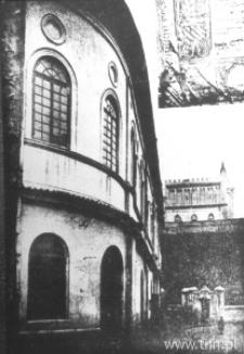 Lublin. Elewacja zachodnia Synagogi Maharszala