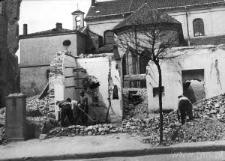 Lublin. Ruiny Hotelu Victoria od strony ulicy Kapucyńskiej