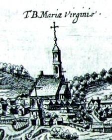 Kościół powizytkowski w Lublinie- fragment Widoku Lublina Hogenberga i Brauna