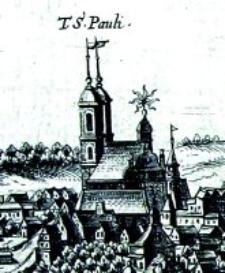 Kościół pobernardyński w Lublinie- fragment Widoku Lublina Hogenberga i Brauna