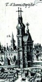Katedra w Lublinie - fragment Widoku Lublina Hogenberga i Brauna