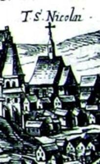 Kościół Św. Mikołaja na Czwartku w Lublinie - fragment Widoku Lublina Hogenberga i Brauna