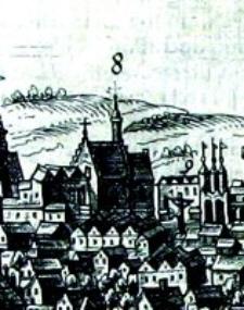 Kościół Św. Ducha w Lublinie - fragment Widoku Lublina Hogenberga i Brauna