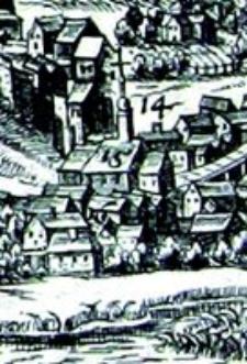 Kościół Św. Wojciecha w Lublinie - fragment Widoku Lublina Hogenberga i Brauna