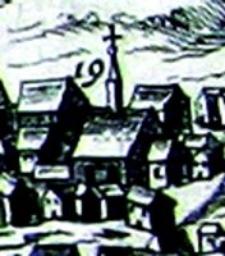 Cerkiew Prawosławna pw. Przemienienia Pańskiego w Lublinie- fragment Widoku Lublina Hogenberga i Brauna