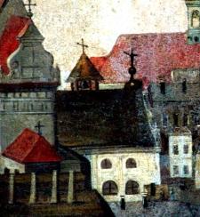 """Kościół Św. Ducha w Lublinie - fragment obrazu """"Pożar miasta Lublina"""""""