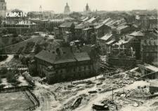 Widok z Zamku Lubelskiego na zabudowę klasztoru św. Wojciecha i Wzgórze Staromiejskie