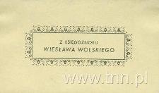 Ekslibris Wiesława Wolskiego