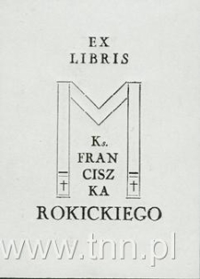 Ekslibris ks. Franciszka Rokickiego
