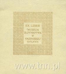 Ekslibris Muzeum Złotnictwa w Kazimierzu Dolnym