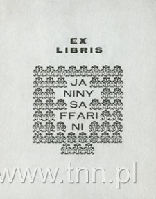 Ekslibris Janiny Saffarini