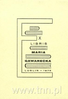 Ekslibris Maria Gawarecka