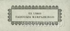 Ekslibris Tadeusza Kurpaskiego