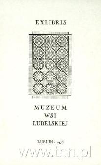 Ekslibris Muzeum Wsi Lubelskiej