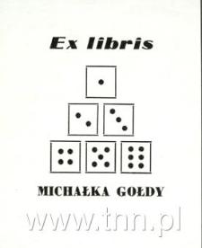 Ekslibris Michała Gołdy