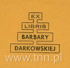 Ekslibris Barbary Darkowskiej