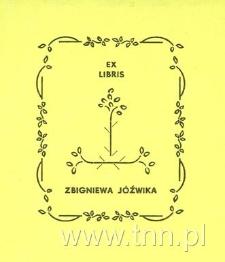 Ekslibris Zbigniewa Jóźwika