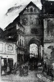 Brama Grodzka w Lublinie, rysunek Mariana Trzebińskiego