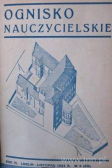 """Okładka czasopisma """"Ognisko Nauczycielskie"""" nr 9/1934"""